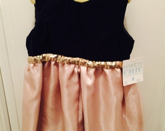 Beautiful Handmade  Velvet Party Dress