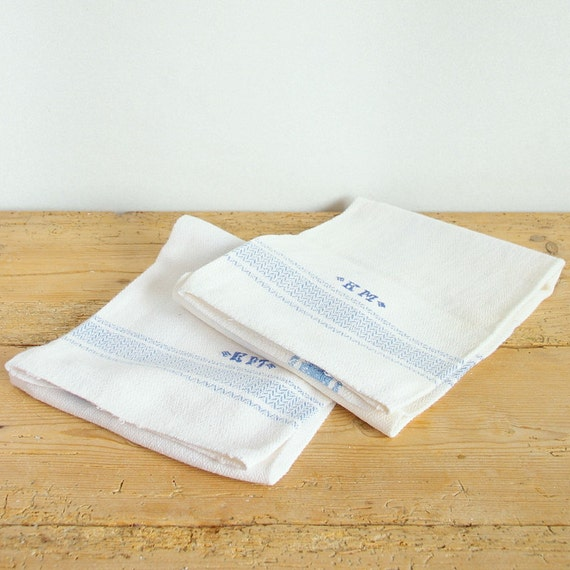 Vintage Kitchen Towels. Country Kitchen Towels. Vintage Linen