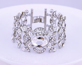 Wedding Bridal Bracelet, Bridesmaid Bracelet, Bridal Jewelry, Wedding Jewelry, Crystal Bracelet