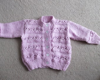 hand knitted babies cardigan/jumper