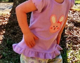 Girl's Easter Ruffle Pants Outfit