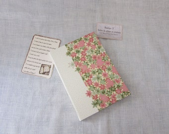 The country - the creative - blank book - Japanese paper pink and green flowers