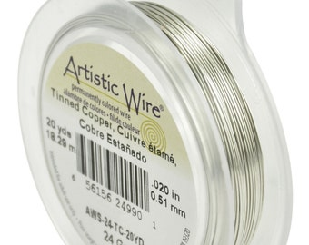Artistic Wire (24GA) Tinned Copper (20YD) Wire by Beadalon