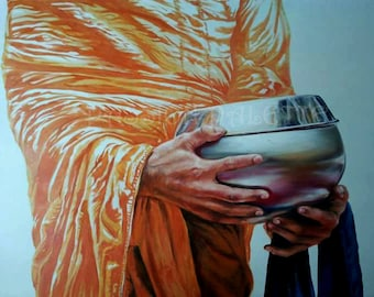 monk ,priest painting oil on canvas