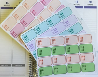 Erin Condren Meal Planner Stickers
