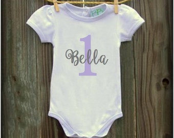 Name onesie with number