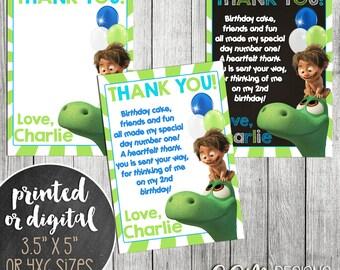 The Good Dinosaur Thank You Card, The Good Dinosaur thank you, The Good Dinosaur Birthday Thank You, Thank You Note, The Good Dinosaur Party