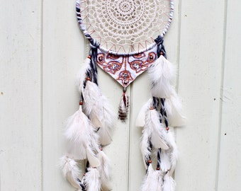 Crochet Doily Recycled/Upcycled Dreamcatcher