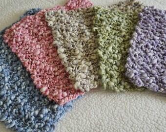 Knit Mini Blanket for Newborn Infant Photography Prop, Handmade, Photography Prop, Knit Blanket