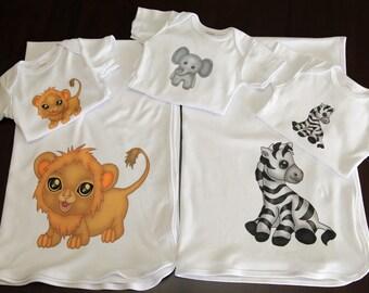 Baby Onesie and Blanket Gift Set (3 Onesies, 2 Blankets)