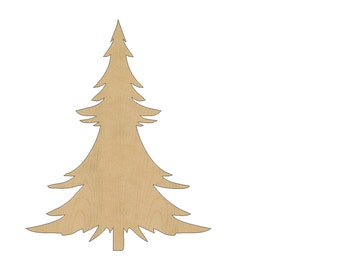 Christmas Tree Cutout Shape Laser Cut Unfinished Wood Shapes, Craft Shapes, Gift Tags, Ornaments #715 All Sizes