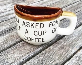 Vintage Half Coffee Mug Souvenir, Niagara Falls Souvinir, Canada Souvenir