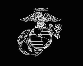 Military US Marine Corps Vinyl Decal car truck auto vehicle window custom sticker United States Marines Semper Fi