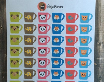 Animal Mug Stickers