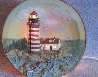 Nightlight - Nautical Theme - West Quoddy Head Maine Lighthouse