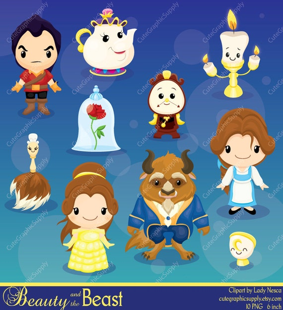 Beast Clipart Beauty Princess Digital