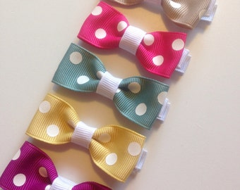 Spotty Hair Clip Set  (on alligator clips)