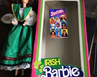 Vintage 1983 Irish Barbie Doll In Box