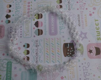 Sparkly Clear 90's Tattoo Choker