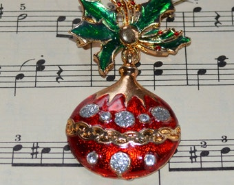 Christmas Ornament Brooch - Festive!