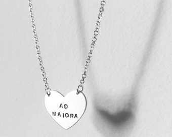 Stainless steel necklace with heart engraved