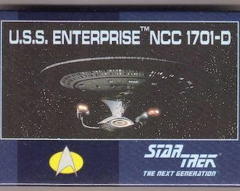pinback Star Trek TNG The Next Generation - licensed 1993 button - U.S.S. Enterprise Starship -  NCC 1701-D pin