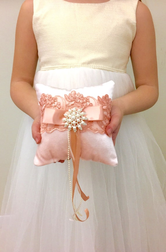 Ring Bearer Pillow Light Pink Wedding Ring Pillow by ...