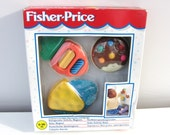 Vintage Retro Fisher Price Fridge Magnet Activity Toy 1995 Original Box Baby Toddler