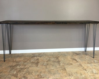 Console Table, Sofa Table ,Entry Table, Hairpin Legs, Modern,Reclaimed, Wood Table, Reclaimed Wood Furniture. FREE SHIPPING!!