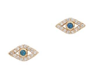 Eye Protection Earrings, Pave Earrings, Dainty Earrings