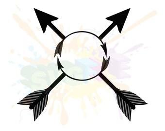 Split Arrow SVG - Files For Silhouette Studio and Cricut Design Space.