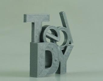 Custom 3D Printed Name Scuplture
