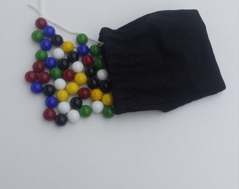 Full Set Replacement Marbles For Chinese Checkers With Pouch