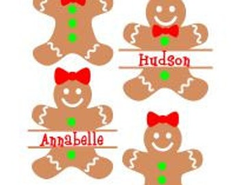 Monogram Gingerbread Cookies; SVG, DXF,  Ps, AI and Pdf Cutting Files for Electronic Cutting Machines