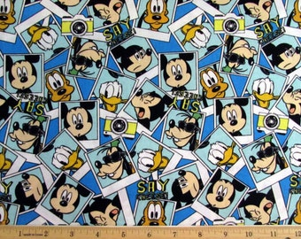 Disney Mickey Say Cheese Fabric Packed Photographs By the Yard