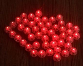 10, 20, 25 Red LED Round Balloon Lantern Light