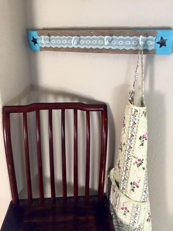 shabby chic repurposed distressed wooden hanging home decor