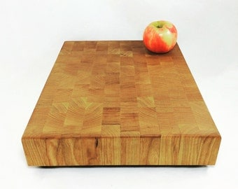 Maple End Grain Butcher Block Cutting Board, Cheese Board, Cook Gift, Retro Kitchen Decor, Housewarming Gift, Thanksgiving Cutting Board