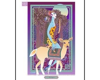 Artemis–Diana Goddess Art Print