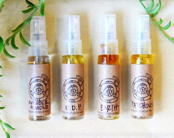 Organic Body Spray - Four Piece Set - Natural Aromatherapy