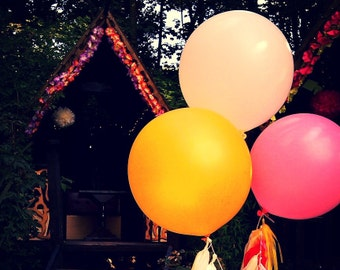 3ft balloon &mixed tassel dressings - Wedding party - wedding decoration - wedding flower -bridal - baby shower - birthday party- photoshoot