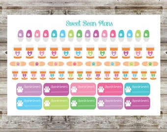 60+ Pet Medication/Vet Appointment Planner Stickers
