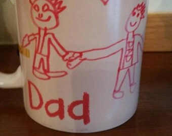 Personalised Mug with kids / childs drawing