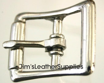"3/4"" buckle - center bar - 10 pack - nickel plated steel buckles (#721)"