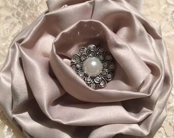 Fabric Flower, Satin Flower, Rolled Flower