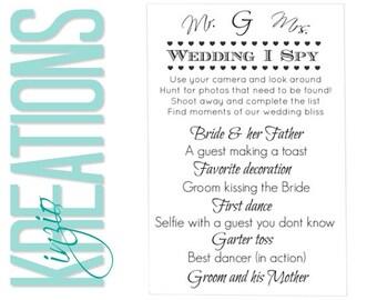 Wedding I spy #2 - I spy - I spy wedding game - wedding I spy -