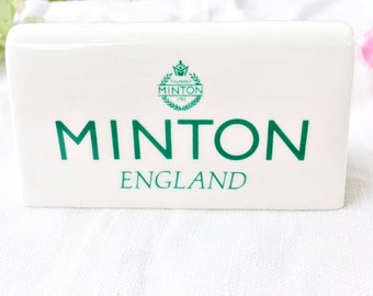 Minton Advertising Sign: Minton Store Plaque, Minton Sign, Minton Display Stand