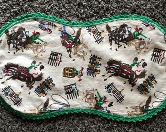 Cowboy Burp Cloth