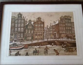 Brouwerdgracht Amsterdam by Anton Pieck