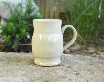 12oz Cream colored mug